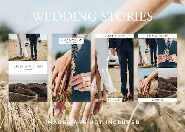 Свадебные шаблоны instagram истории Бесплатные Psd