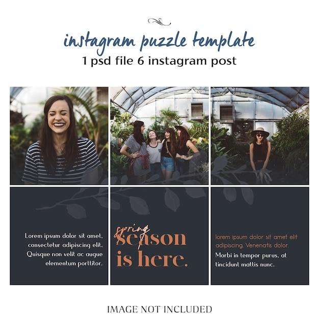 モダン、クリエイティブ、そしてスタイリッシュなinstagramパズル、グリッド、コラージュテンプレート Premium Psd