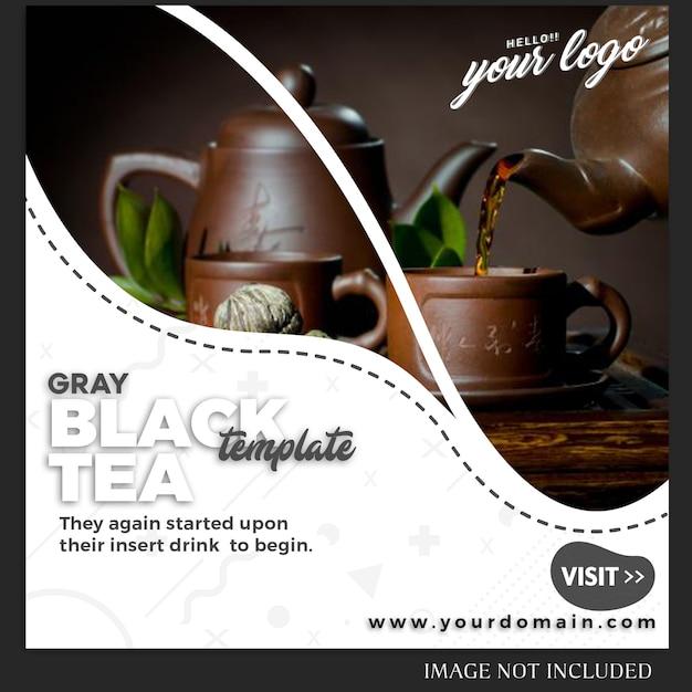 飲み物のレシピやライフスタイルのinstagramの投稿テンプレート Premium Psd