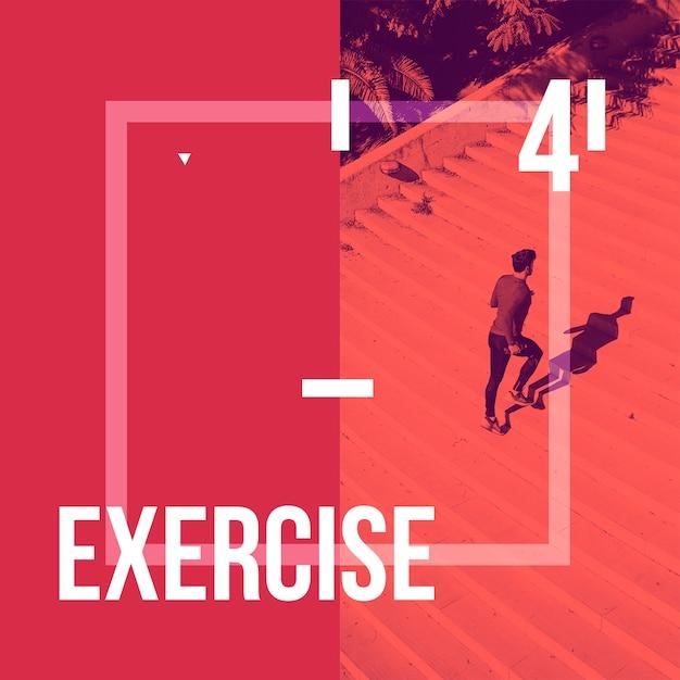 Instagram пост фон с концепцией упражнений Бесплатные Psd