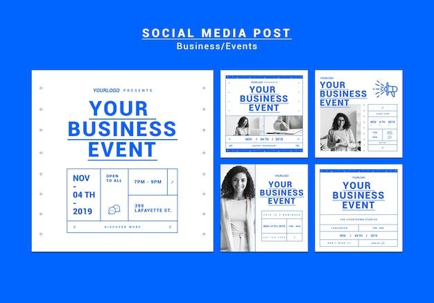 現代のビジネスinstagramストーリーパック 無料 Psd