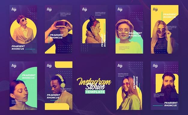 Шаблон истории instagram с людьми и цифровыми устройствами Бесплатные Psd