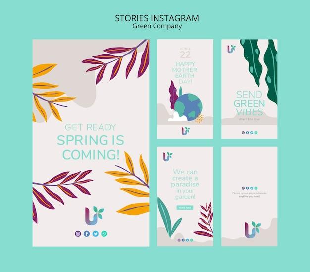 Шаблон концепции истории красочный бизнес instagram Бесплатные Psd