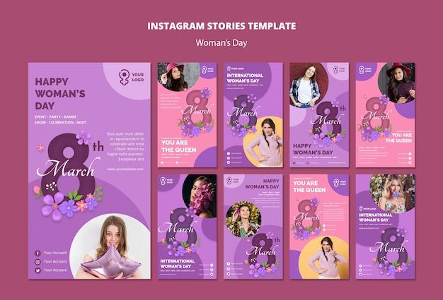 国際女性の日のinstagramの物語 無料 Psd
