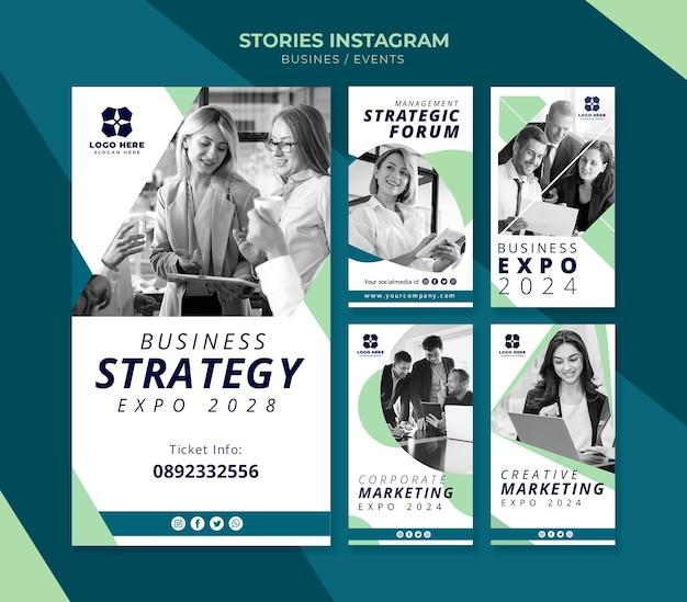 Сборник рассказов из instagram для бизнес-выставки Бесплатные Psd