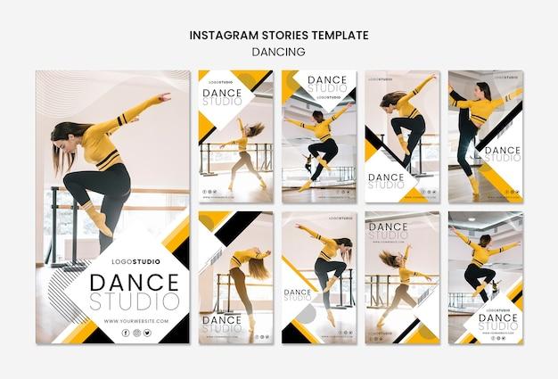 Шаблон истории из instagram с танцевальной студией Бесплатные Psd