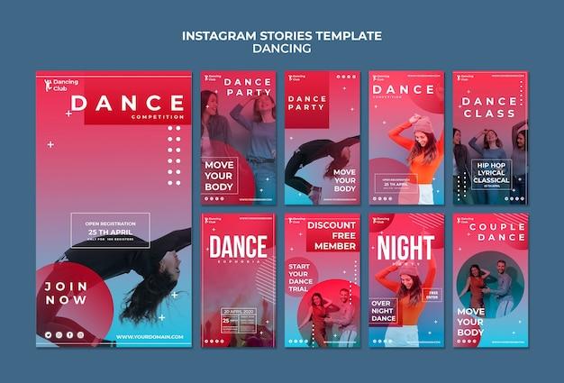 Шаблон истории красочный танец instagram Бесплатные Psd
