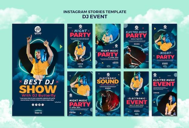 Шаблон истории музыкальной вечеринки в instagram Бесплатные Psd