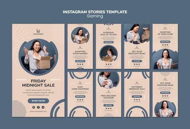 Шаблон истории из instagram с онлайн покупками Бесплатные Psd