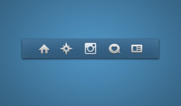 アイコンセットのアイコンinstagramの 無料 Psd