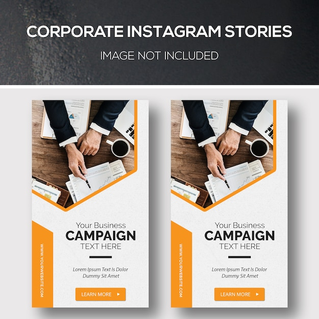 企業のinstagramストーリー Premium Psd