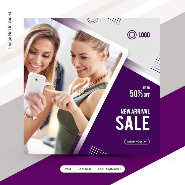 Мода продажа instagram пост дизайн Premium Psd