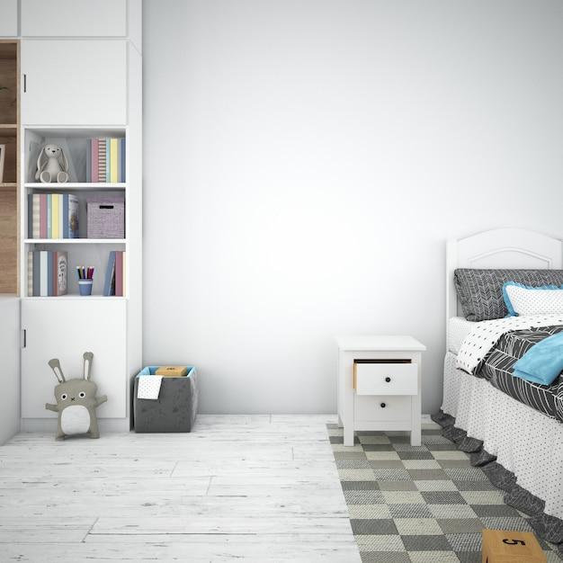 Design interno camera da letto per bambini Psd Gratuite
