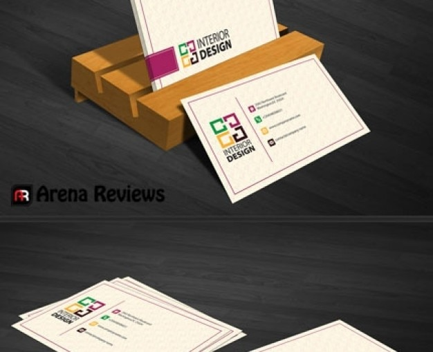 Interior decoration business card template psd file free download interior decoration business card template free psd accmission Images