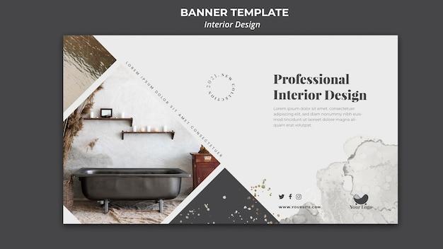 Banner di modello di annuncio di interior design Psd Gratuite