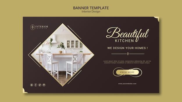 Interior design banner design Free Psd