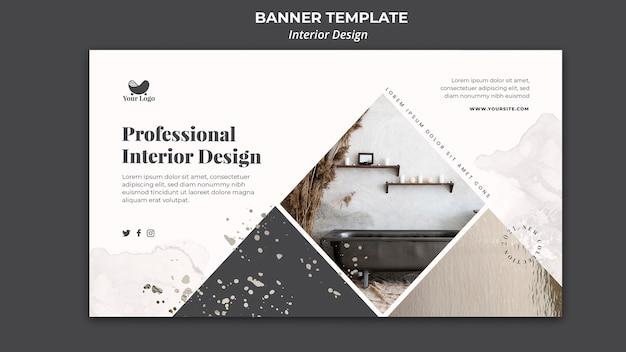 Interior design banner template Free Psd