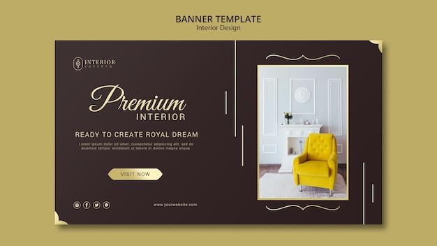 Interior design banner theme Free Psd