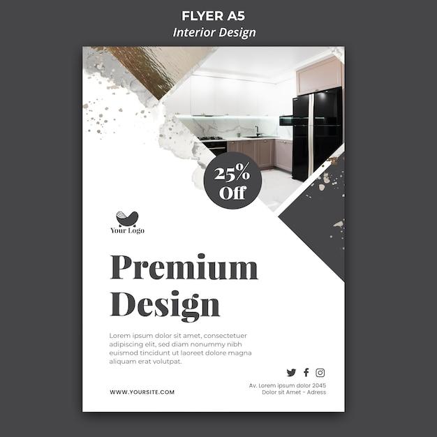 인테리어 디자인 템플릿 플라이어 무료 PSD 파일