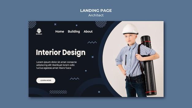 インテリアデザインランディングページ 無料 Psd