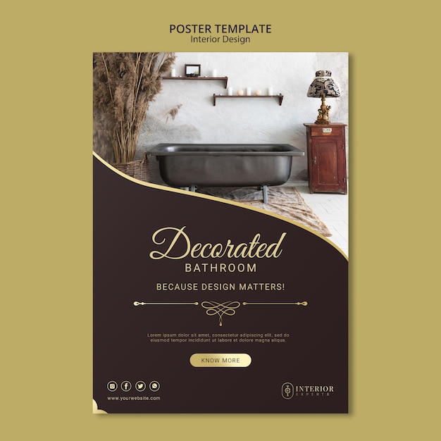 인테리어 디자인 포스터 무료 PSD 파일