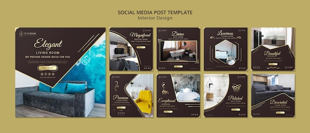 Interior Design Social Media Post Free Psd File