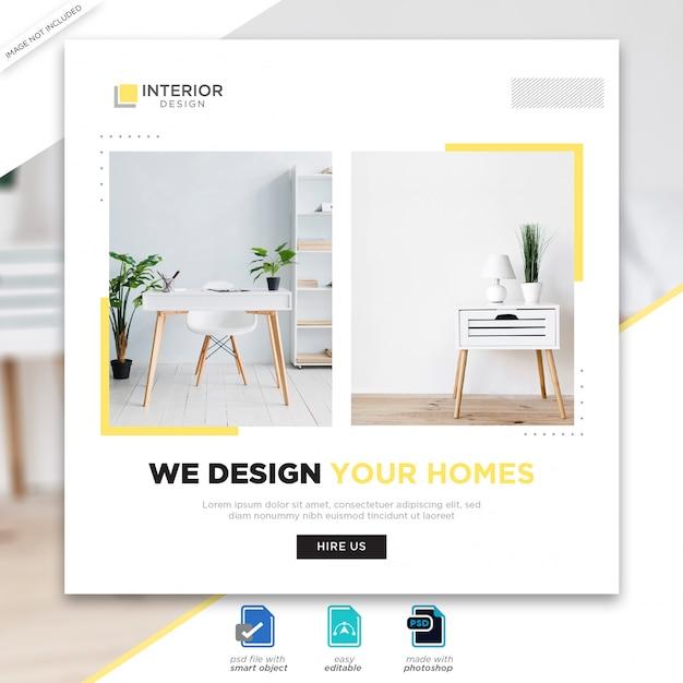 Premium Psd Interior Design Social Media Posts Template,Fractal Design Define R4 Hdd Cage