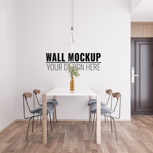 Free PSD | Interior dining room wall mockup