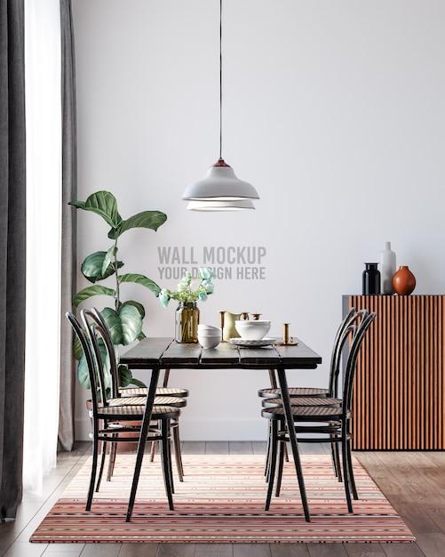 인테리어 식당 벽지 모형 무료 PSD 파일