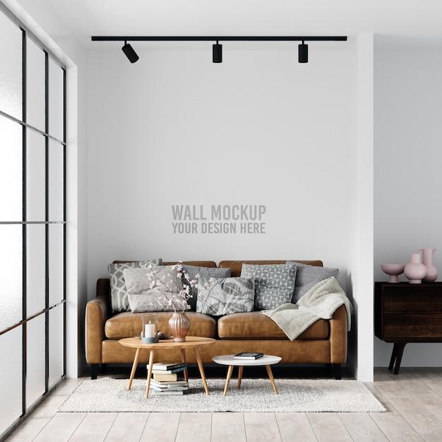 인테리어 거실 벽 모형 무료 PSD 파일