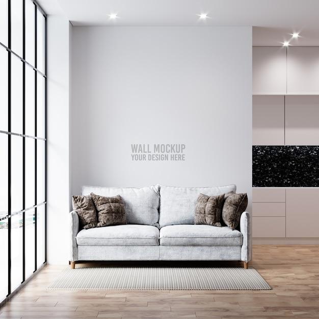 Mockup della parete del soggiorno interno Psd Gratuite