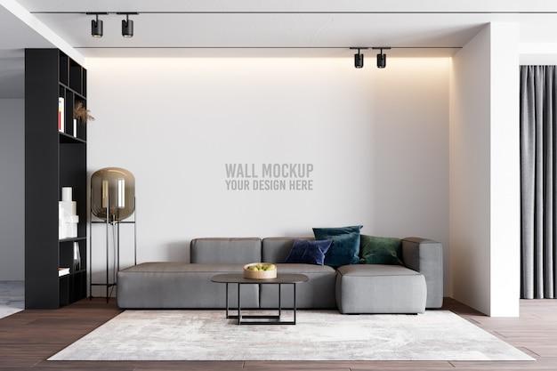 Interior living room wallpaper mockup Premium Psd