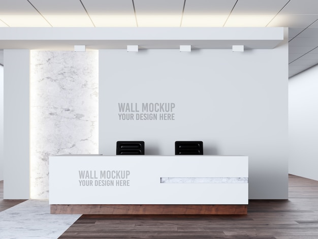 Interior medical clinic wall mockup Premium Psd