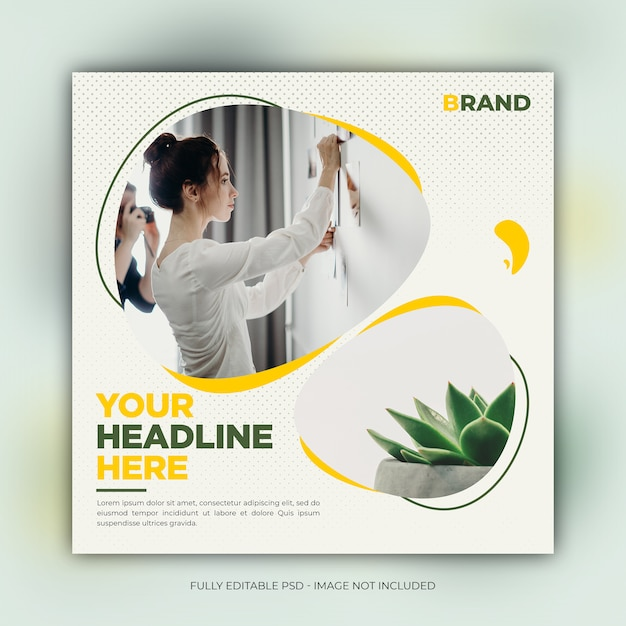 Interior social media banner template Premium Psd