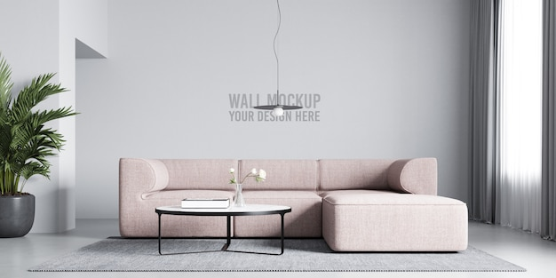 Interior wall mockup Premium Psd