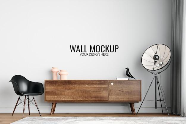 Interior wallpaper mockup Premium Psd