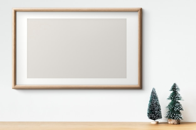 크리스마스 트리 장식 인테리어 나무 프레임 모형 무료 PSD 파일