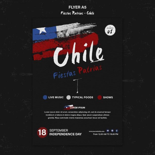 칠레의 날 국제 전단지 무료 PSD 파일