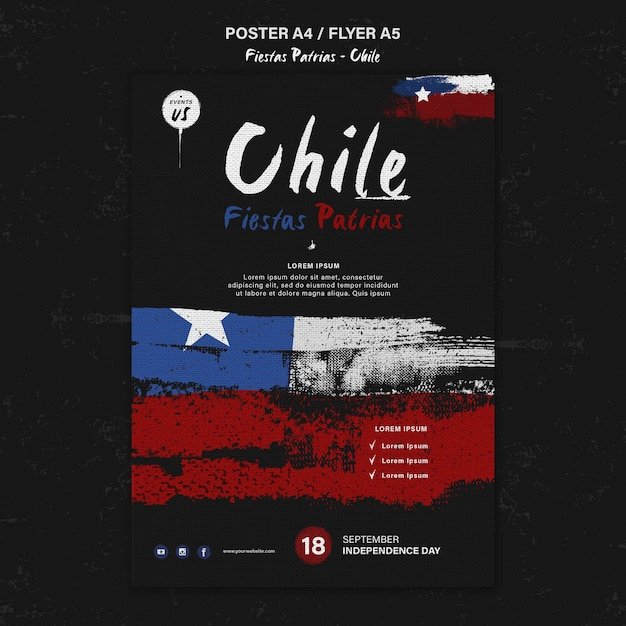 Дизайн плаката к международному дню чили Бесплатные Psd