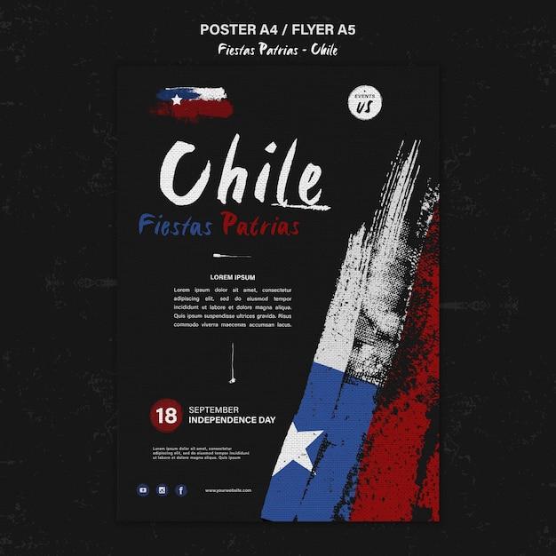 Modello di poster della giornata internazionale del cile Psd Gratuite