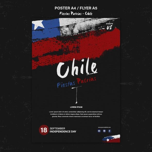 Плакат международного дня чили Бесплатные Psd