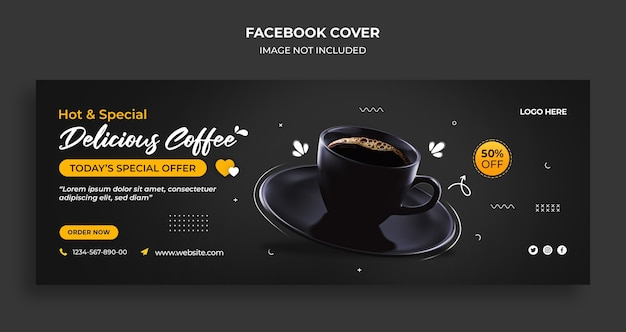International day of coffee facebook timeline cover and web banner template Premium Psd