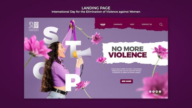 Pagina web della giornata internazionale per l'eliminazione della violenza contro le donne Psd Gratuite