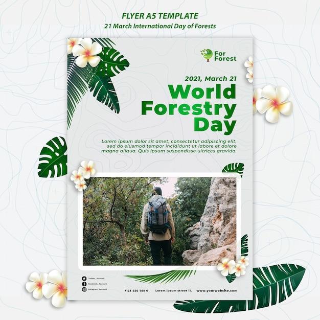 국제 숲의 날 전단지 무료 PSD 파일