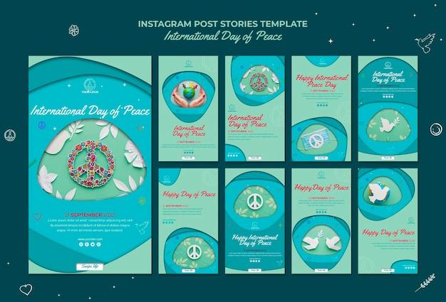 Международный день мира instagram рассказы Бесплатные Psd