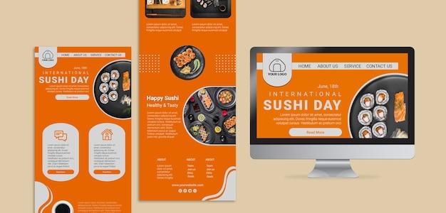 International sushi day web templates Free Psd
