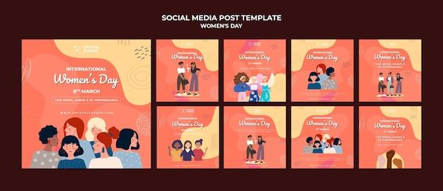 International women day social media post Premium Psd