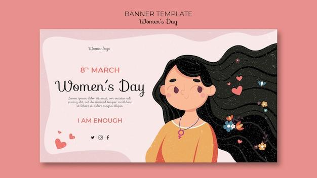 Шаблон баннера международного женского дня Бесплатные Psd