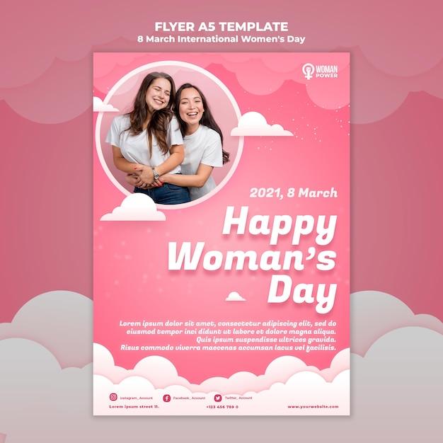 국제 여성의 날 전단지 템플릿 무료 PSD 파일