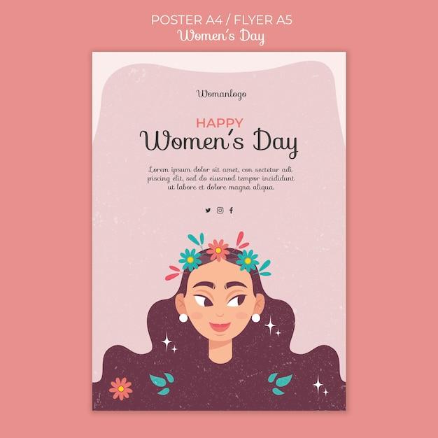 Шаблон плаката к международному женскому дню Бесплатные Psd